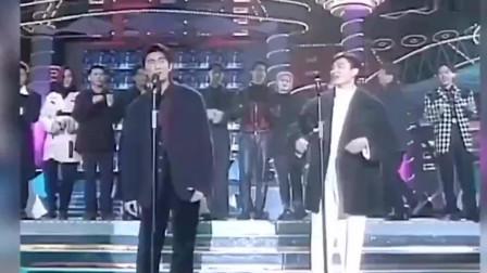 """1994年群星合唱大联欢,天王一个比一个帅,真正的""""小鲜肉"""""""