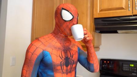 蜘蛛侠晨间例行活动,在真实生活中的跑酷