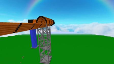 我的世界动画-水滑梯挑战-Frosty Noob