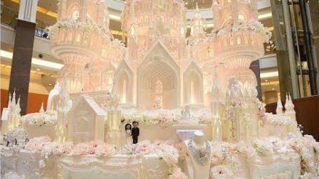 世界上最大的蛋糕,高度超过3层楼,贫穷限制了我们的想象!