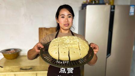 玉米面这样做最好吃,小勇简单一做暄软的像面包,孩子都抢的吃