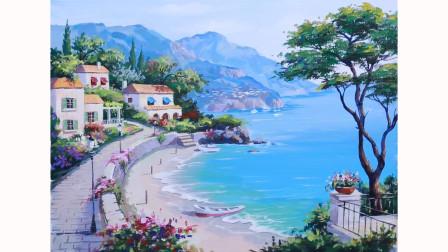 (四)风景油画如何画?详细到每个步骤,新手看了也能画