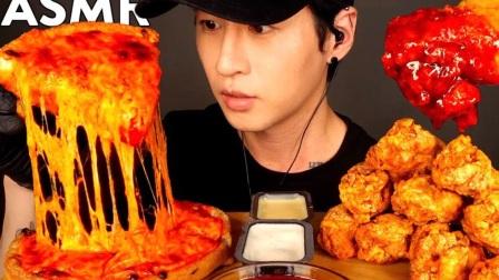 【Zach Choi】 辣火鸡酱芝士披萨+炸鸡