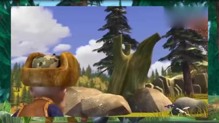 熊出没之夺宝熊兵光头强发现传说中的浪木,这是要发达了啊