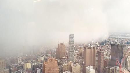 前方有绝景!雪飑瞬间吞噬纽约