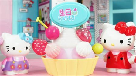 凯蒂猫的生日蛋糕过家家玩具