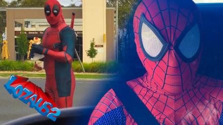 蜘蛛侠提前感应到自己的危险,想的的办法超乎想象