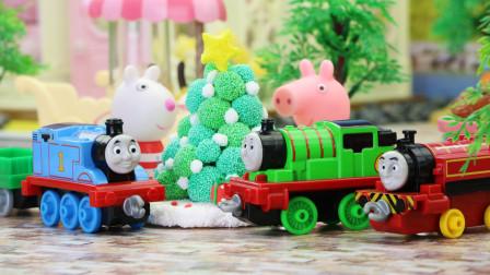 托马斯玩具故事 托马斯送来了圣诞树 定格动画