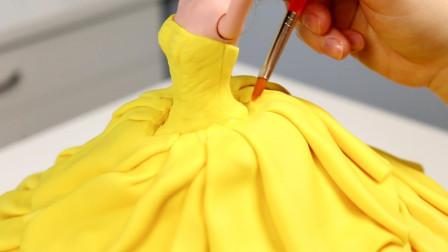 顶级蛋糕师将蛋糕做成芭比公主,神奇的制作过程,让人叹为观止!