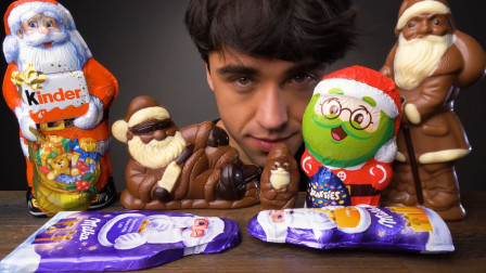 圣诞节怎能少了巧克力呢,巧克力做的圣诞老人,吃上一口甜到心底