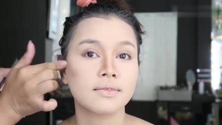女子妆前长得十分普通,妆后秒变气质女神,这化妆真是堪比整容术