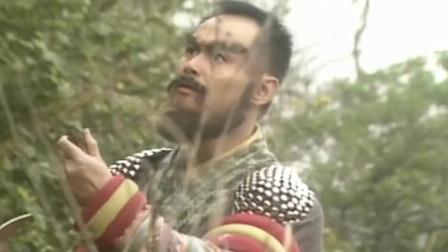 眼看黄蓉有难,杨过抄起树枝秀出打狗棒法,金轮法王被打懵