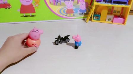 汪汪队们都有自己的车,乔治也开了辆车,结果是猪爸爸的车!