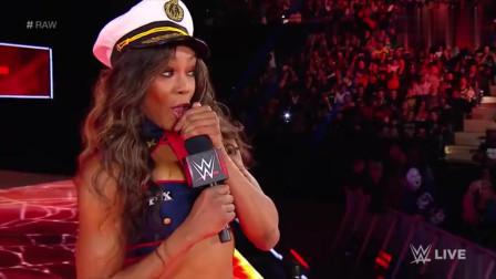WWE精彩時刻400斤美女這樣欺負對手腰真好