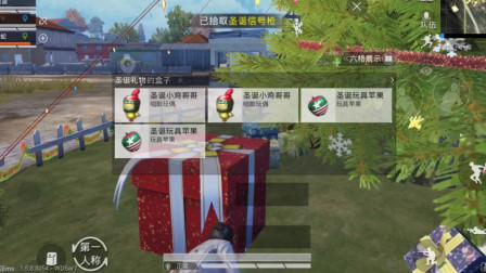 圣诞模式N港拿信号枪,决赛圈倒了不能甩锅给队友
