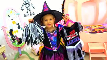 国外小女孩的万圣节聚会妆容,拥有这么多玩具,真是羡慕