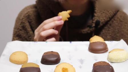 吃货小姐姐:姐姐吃曲奇饼干,咀嚼音听起来酥酥脆脆,味道一定也很棒吧