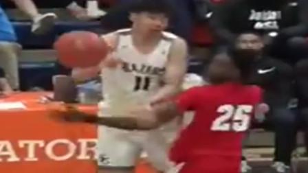 中国篮球的未来!16岁余嘉豪跟詹姆斯儿子布朗尼是队友,身高已经达到了2米18!