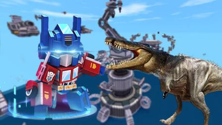 迷你世界 动物合成模拟器 恐龙与鳄鱼合体 恐龙鳄来了