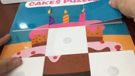 白雪的蛋糕图片乱了,哪吒帮白雪拼蛋糕,巧克力蛋糕拼好了