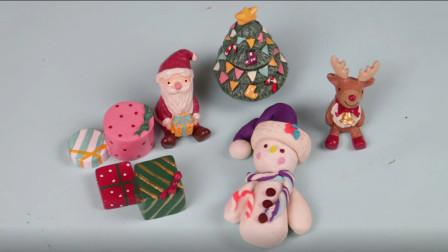 圣诞雪人带着小朋友们的礼物来啦 培乐多彩泥手工