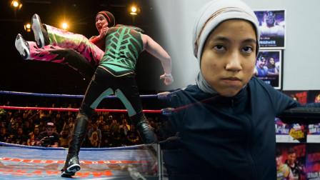 """世界上第一位""""戴头巾""""的女摔跤手:谁说女人不能玩摔跤?"""