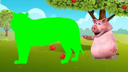 让孩子们学习野生动物和认识颜色