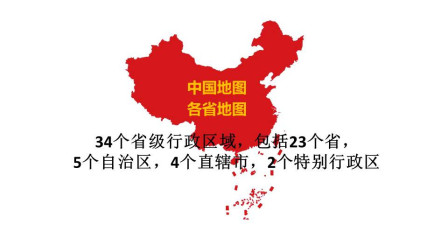 中国那么大,你逛完了吗,看看我们34个省级行政区域地图