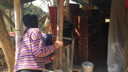 广西玉林80岁老人独居深山,姑娘走进一看,发现了什么?