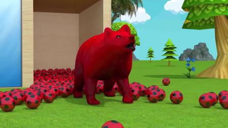 趣味益智动画片 大蛋变成森林里的猛兽