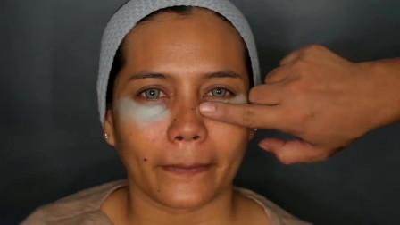 女子皮肤黝黑很自卑,化完妆后,又白又美还很显气质