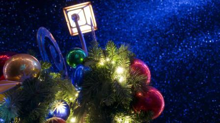 上海迪士尼圣诞节下雪啦