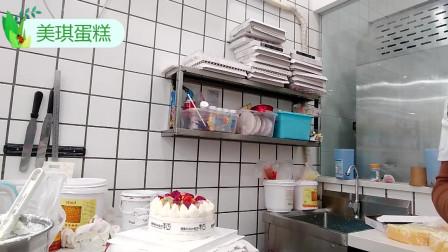 好有创意的一款网红蛋糕,水果彩带生日蛋糕,老婆看了非常开心!