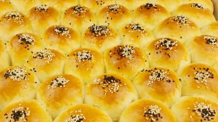 原来在家也可以烤面包,简单易学,面包松软可口,一次5个不够吃
