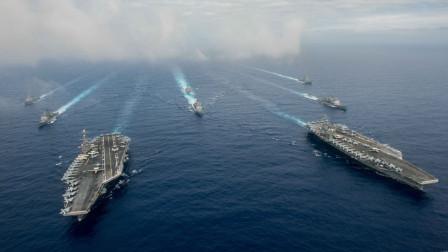 美军六艘航母同时进逼中国怎么办?回应只有简单四个字
