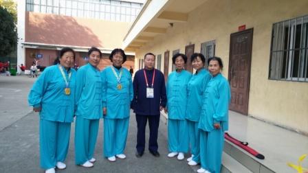 辽宁省北票市南山花园太极队在武裆山比赛长穗云龙剑