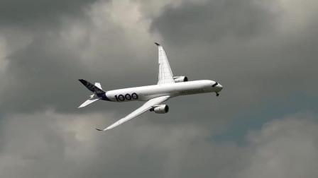 2019年巴黎航展,A350-1000飞行表演