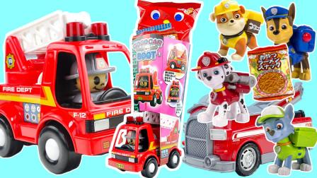 消防车小哥给汪汪队们送圣诞零食