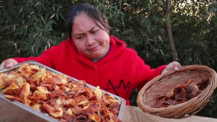 胖妹5斤土豆做薯片,不料5元一包的薯片,做起来这么难,好尴尬