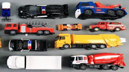 卡车赛车汽车玩具集合展示