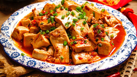 麻婆豆腐家常做法,嫩而不碎,色泽红亮,麻辣十足,下饭特别棒