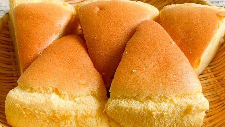 面粉别蒸馒头了,教你简单做蛋糕,柔软香甜和买的一样好吃 【三丰美食】