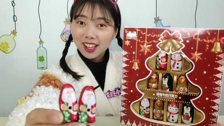 """小姐姐吃趣味""""圣诞节创意巧克力"""",Q版可爱颜值高,甜蜜柔滑"""