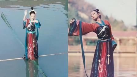 水中仙子!小姐姐水上翩翩起舞惊艳秀美,身轻如燕杨柳!