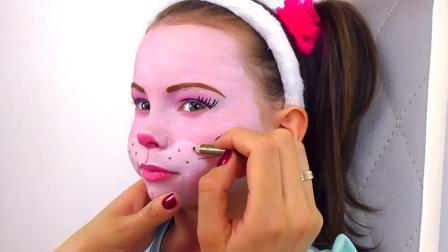 国外小女孩创意仿妆,萌萌的兔宝宝,你确定不想试试吗?