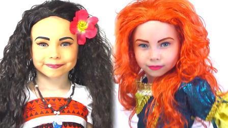 国外小女孩仿妆迪士尼公主,这技术,真叫人自愧不如!