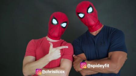 两个小哥哥训练蜘蛛侠特技,真是太酷了!