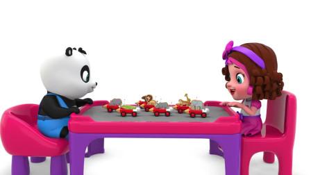 学前儿童学习英语的好帮手,各种卡通动物牌子,丽莎英语轻松益智