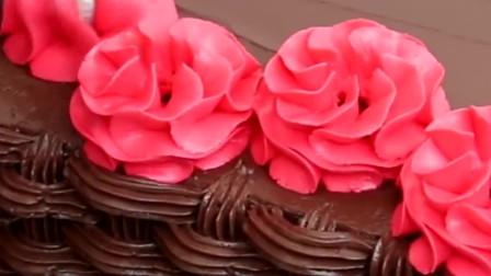 """裱花嘴也能""""编""""漂亮花篮蛋糕,看着可爱的花篮,好看还能吃"""
