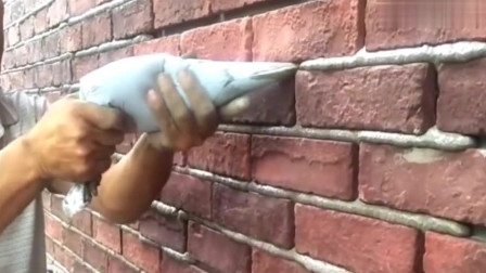 这手法太专业了,做蛋糕的都砌墙了